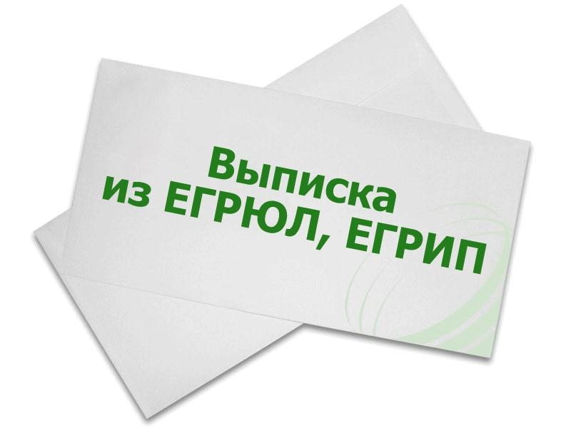 Заказать официальную выписку из ЕГРЮЛ, ЕГРИП