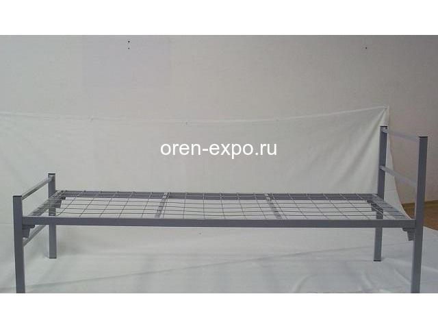 Бюджетные кровати металлические со сварной сеткой, эконом - 1