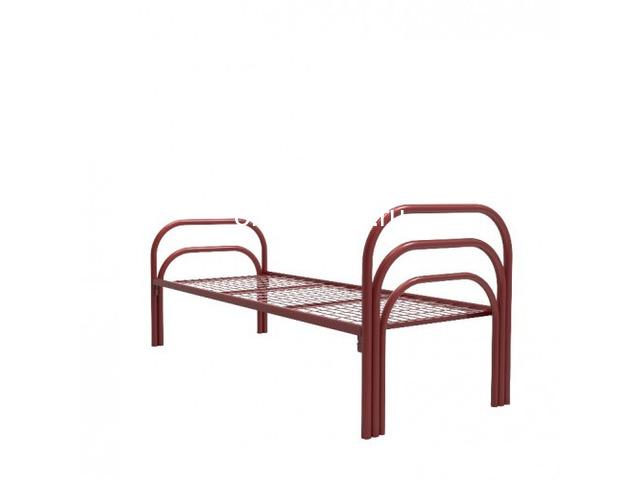Бюджетные кровати металлические со сварной сеткой, эконом - 3