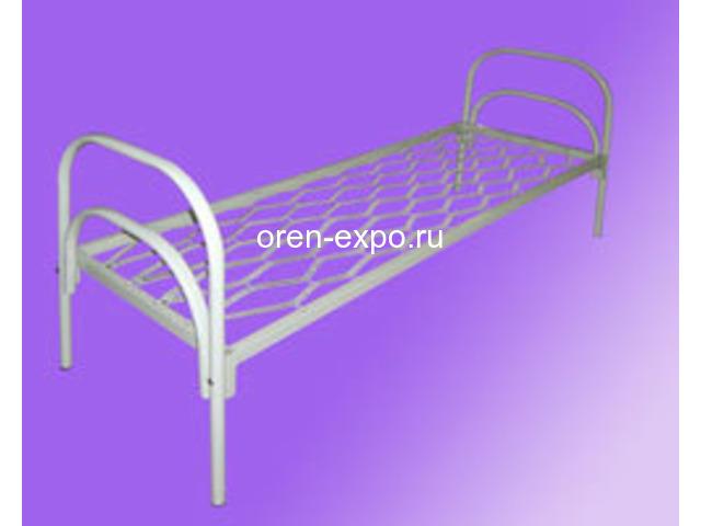Бюджетные кровати металлические со сварной сеткой, эконом - 7