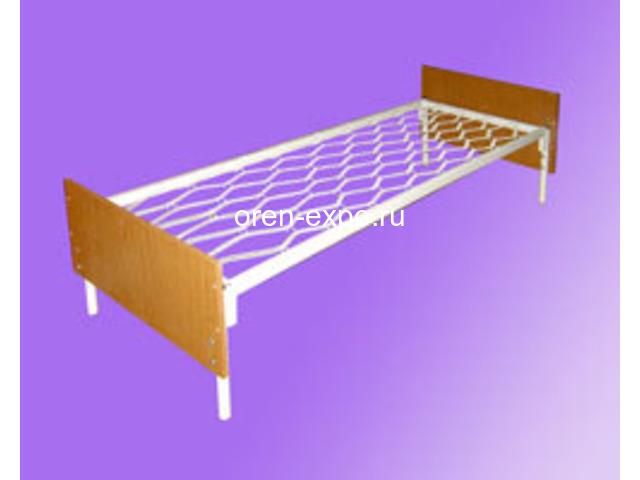 Двухъярусные кровати металлические с ДСП спинкой, престиж - 1
