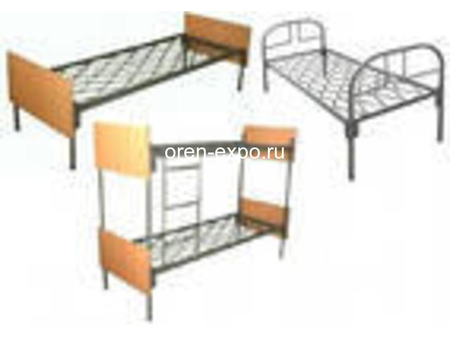 Двухъярусные кровати металлические с ДСП спинкой, престиж - 2