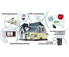 Установка видеонаблюдения и охранных сигнализаций