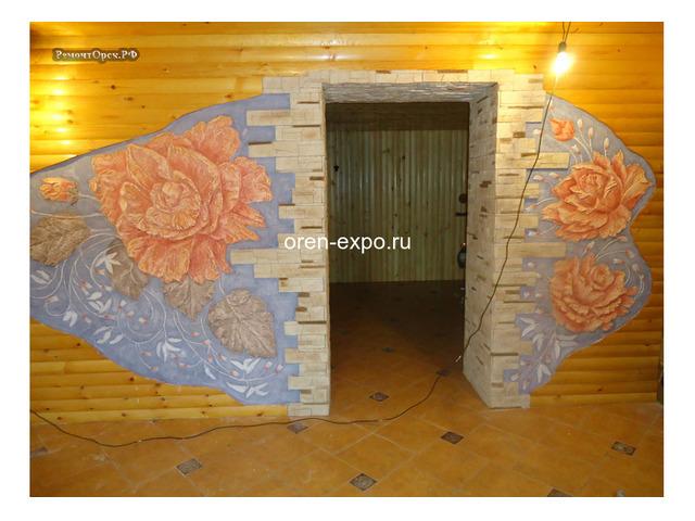 Барельефы, роспись стен в квартирах, домах - 2
