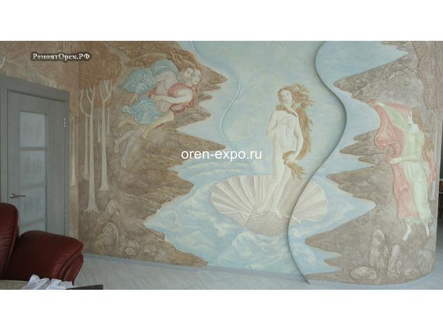 Барельефы, роспись стен в квартирах, домах - 4