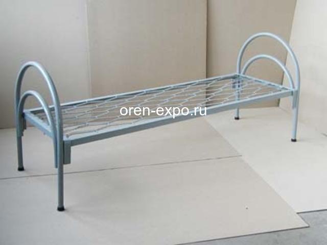 Дешевые одноярусные металлические кровати для строителей - 1