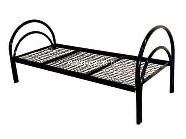 Дешевые одноярусные металлические кровати для строителей - 2