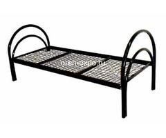 Дешевые одноярусные металлические кровати для строителей - Изображение 2