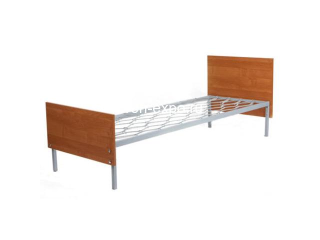 Дешевые одноярусные металлические кровати для строителей - 3