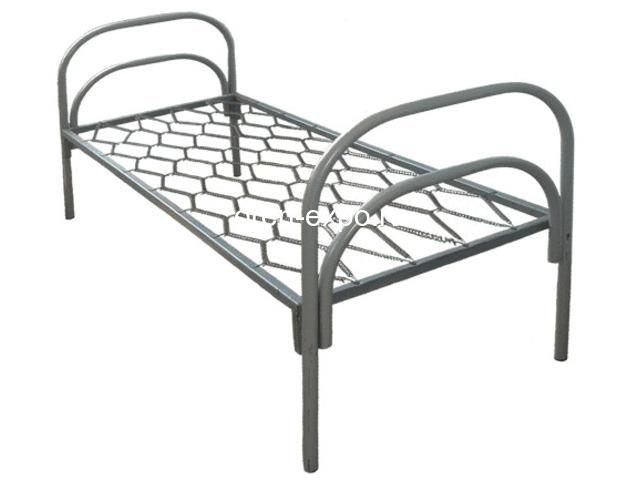 Дешевые одноярусные металлические кровати для строителей - 5