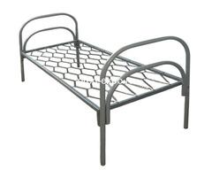 Дешевые одноярусные металлические кровати для строителей - Изображение 5