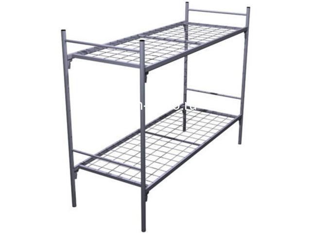Дешевые одноярусные металлические кровати для строителей - 6