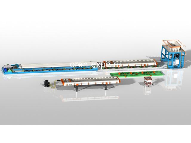 Линия по производству пустотных плит ПК - 1