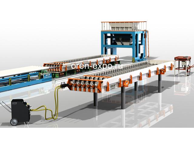 Линия по производству пустотных плит ПК - 2