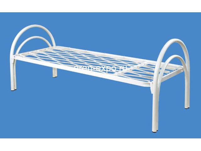 Бюджетные кровати металлические одноярусные - 2