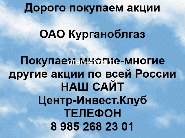 Покупаем акции ОАО Курганоблгаз и любые другие акции по всей России - 1