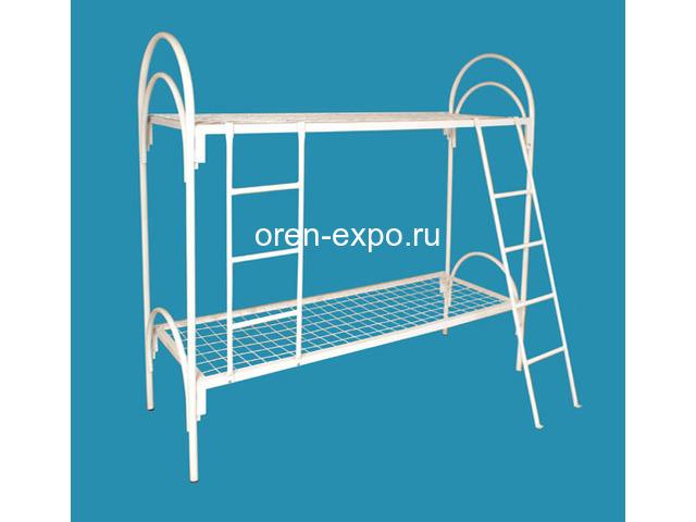 Двухъярусные кровати металлические с лестницами - 2
