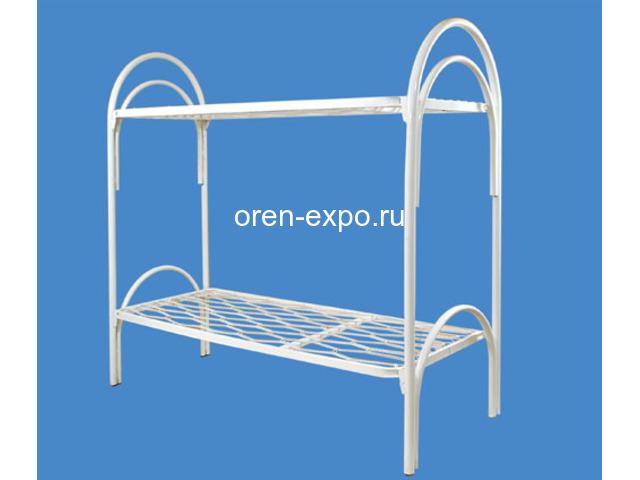 Двухъярусные кровати металлические с лестницами - 3