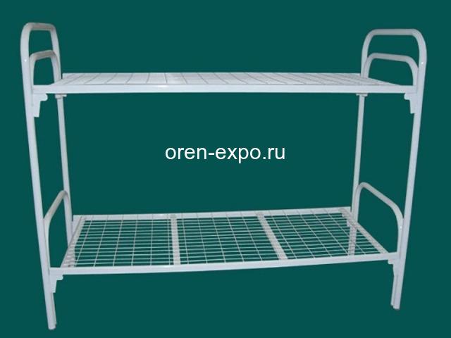 Двухъярусные кровати металлические с лестницами - 4