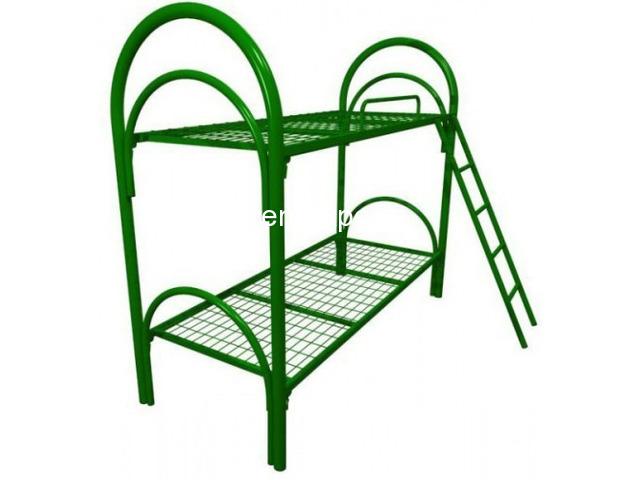 Двухъярусные кровати металлические с лестницами - 5