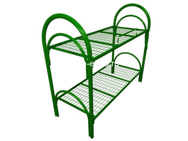 Двухъярусные кровати металлические с лестницами - 6