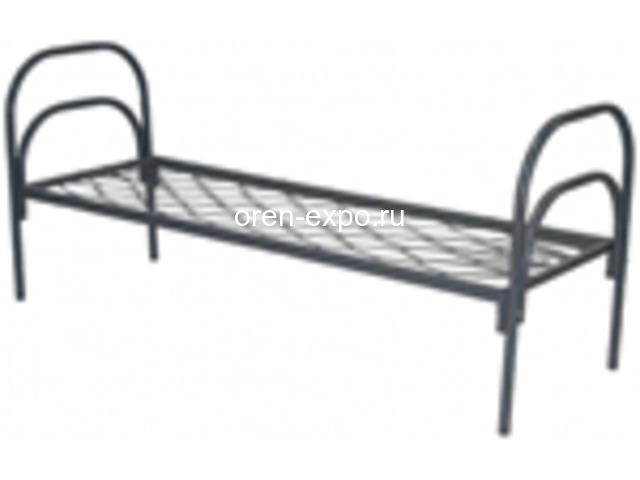 Одноярусные кровати металлические для рабочих - 4