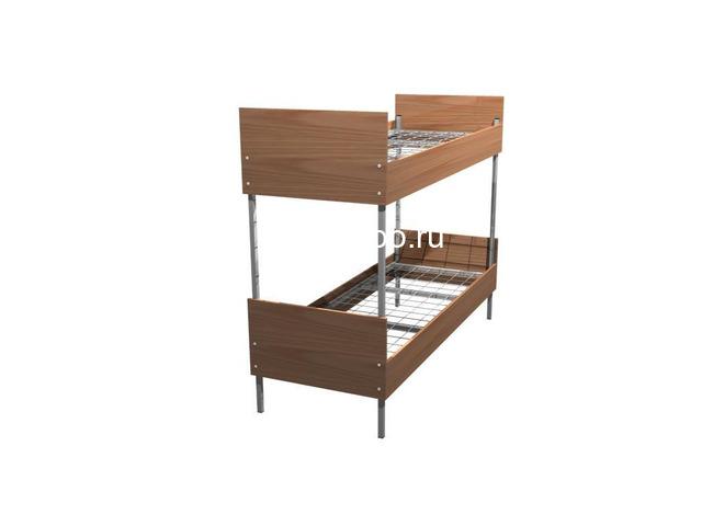 Одноярусные кровати металлические для рабочих - 5