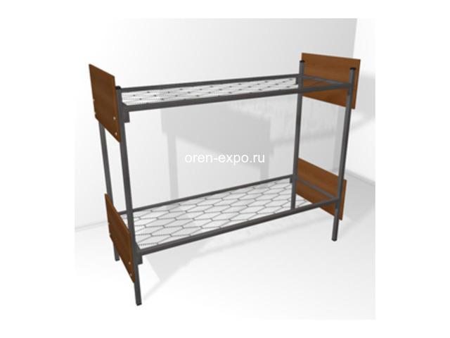 Прочные одноярусные кровати для строительных вагончиков, бытовок - 1