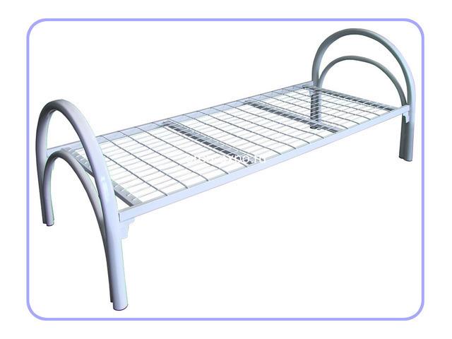 Прочные одноярусные кровати для строительных вагончиков, бытовок - 2