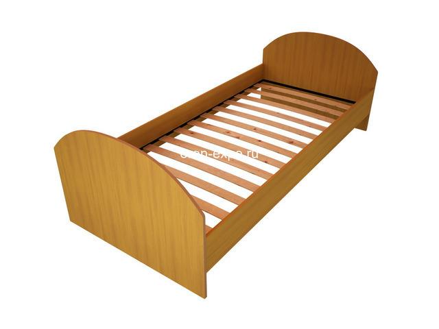 Прочные одноярусные кровати для строительных вагончиков, бытовок - 3