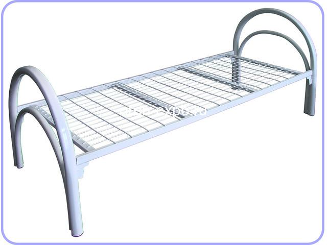 Двухъярусные металлические кровати для дачи - 5