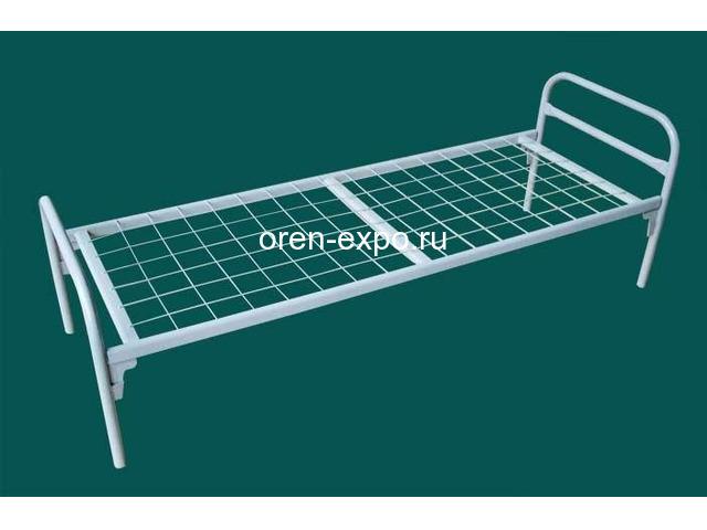 Одноярусные кровати металлические эконом класса - 1