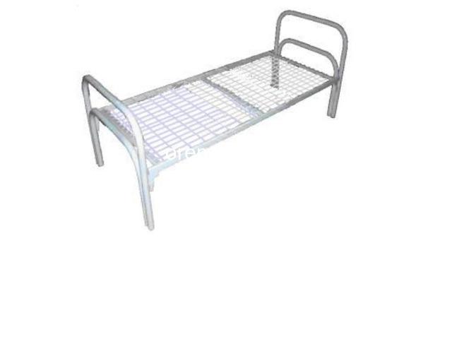 Одноярусные кровати металлические эконом класса - 4
