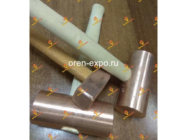 Молоток медный искробезопасный 025кг 0.5кг 0.8кг 1кг 1.5кг 8кг 2кг деревянной ручкой - 6