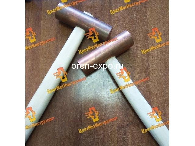 Молоток медный искробезопасный 025кг 0.5кг 0.8кг 1кг 1.5кг 8кг 2кг деревянной ручкой - 7