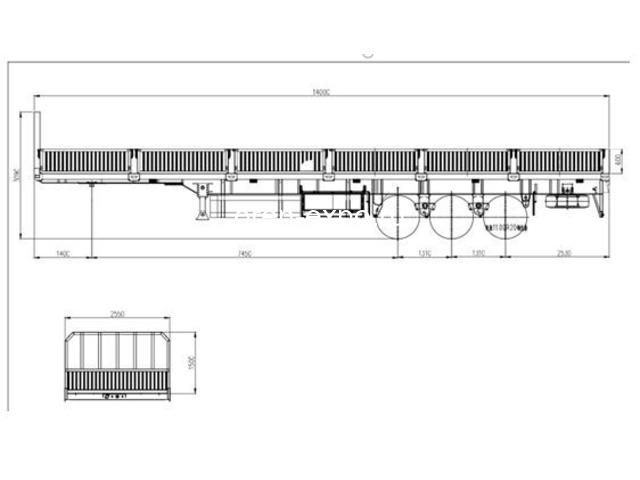 Полуприцеп бортовой LYR9600JS, 3 оси - 8