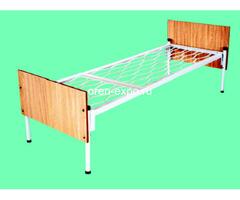 Одноярусные кровати металлические для дома с ДСП - Изображение 1