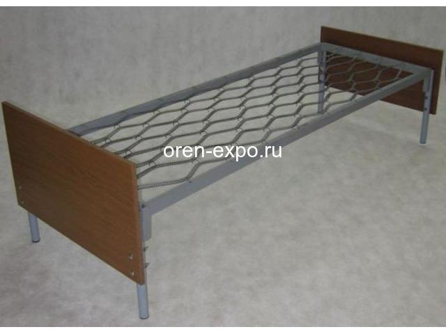 Одноярусные кровати металлические для дома с ДСП - 2
