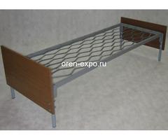 Одноярусные кровати металлические для дома с ДСП - Изображение 2