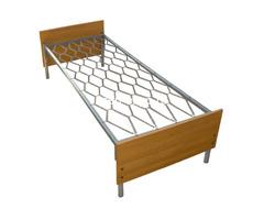 Одноярусные кровати металлические для дома с ДСП - Изображение 3