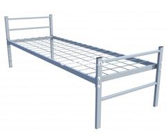 Одноярусные кровати металлические для дома с ДСП - Изображение 4