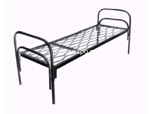 Одноярусные кровати металлические для дома с ДСП - 5