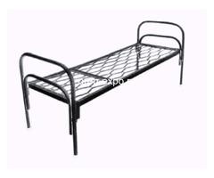 Одноярусные кровати металлические для дома с ДСП - Изображение 5