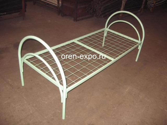 Кровати металлические одноярусные на заказ с доставкой - 3